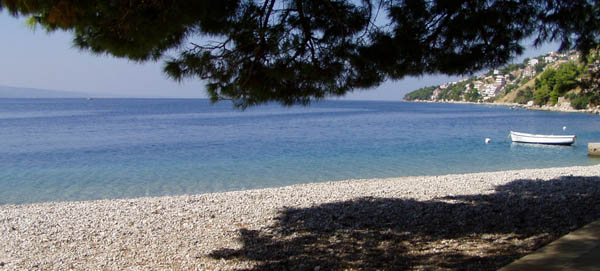 Chorvatsko - pláž Ruskamen