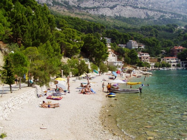 pláž Brela 6