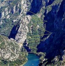 Zipline Omiš – kaňony řeky Cetiny