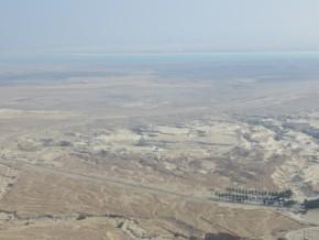 pohled z Masady na Mrtvé moře