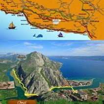Vyhlídková jízda koňonem řeky Cetiny s návštěvou konoby Kremenko ( U Flingstonů)