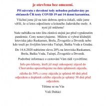 HURÁÁÁ DO CHORVATSKA A SLOVENSKA  bez testů a karantény